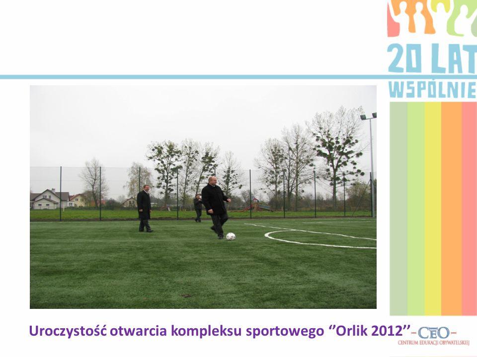 Uroczystość otwarcia kompleksu sportowego Orlik 2012