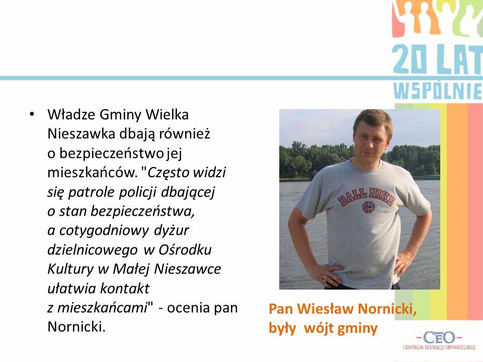 Zarówno pan Wiesław, jak i pani Maria są dumni z postępu, jaki osiągnęła gmina na przestrzeni ostatnich 20 lat.