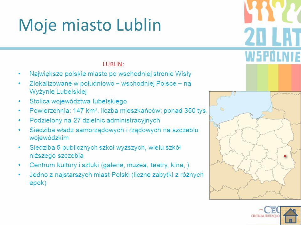 Spis treści Wywiad z panią E.S Zdjęcia Zamku Lubelskiego Proszę wybrać jedną z opcji: Moje miasto Lublin Album