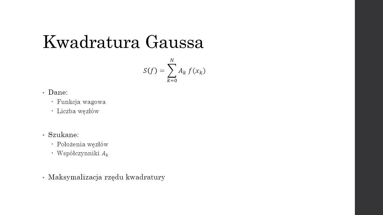 Kwadratura Gaussa