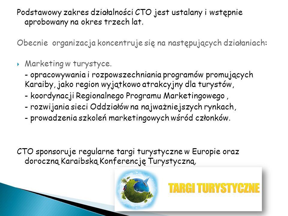 Podstawowy zakres działalności CTO jest ustalany i wstępnie aprobowany na okres trzech lat. Obecnie organizacja koncentruje się na następujących dział