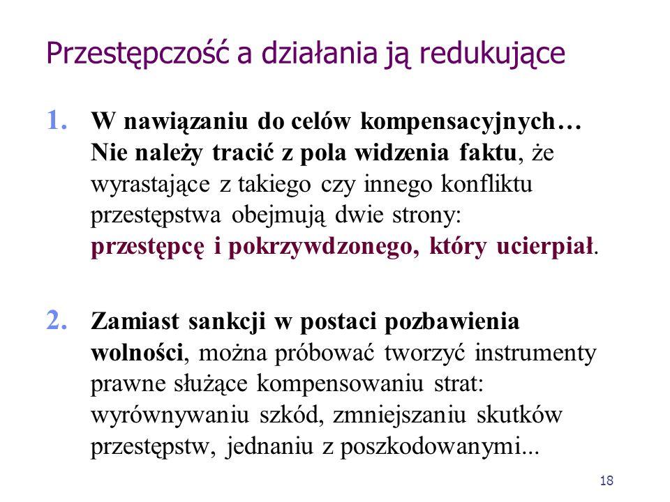 17 Etap legislacyjny Prewencja indywidualna - celem ustanowionej kary oddziaływanie na sprawcę i powstrzymanie go przed ponownym zachowaniem przestępn