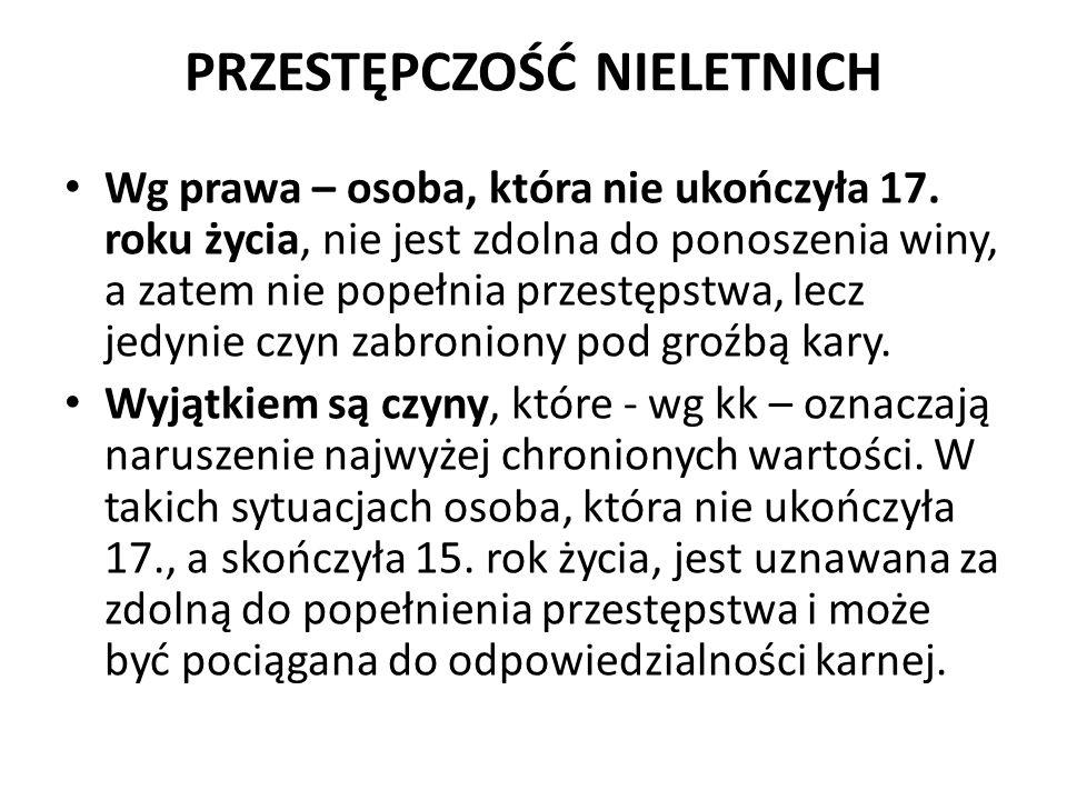 PRZESTĘPCZOŚĆ NIELETNICH 9.