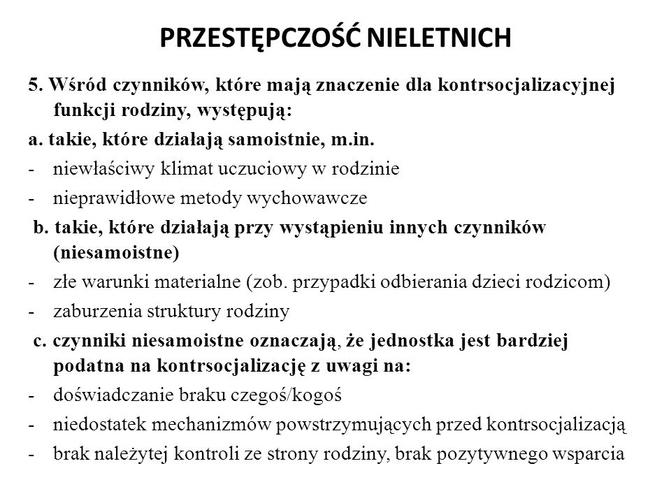 PRZESTĘPCZOŚĆ NIELETNICH 6.
