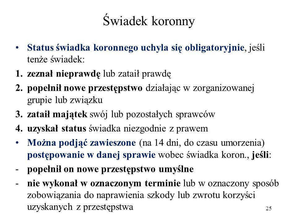 Świadek koronny Fot.