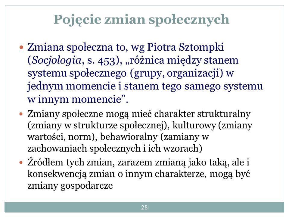 27 (3) Zmiana społeczna jako wieloczynnikowe uwarunkowanie przestępczości P_W04: przedstawić zależności pomiędzy stanem wybranej więzi społecznej a sk