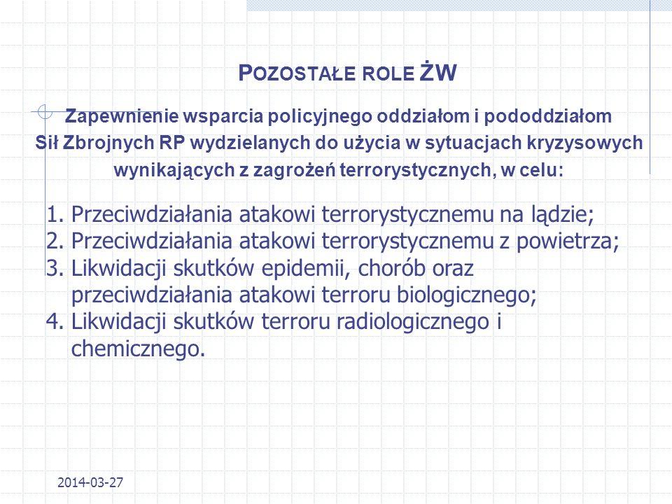 Z ADANIA ŻW C. D. 6. Zapobieganie popełnianiu przestępstw i wykroczeń przez osoby, w stosunku do których ŻW jest organem właściwym, oraz innym zjawisk