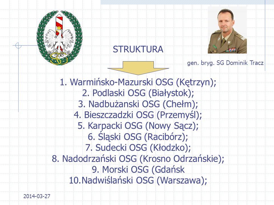 2014-03-27 1.Realizowanie, w granicach jej właściwości, zadań służby ochrony państwa oraz wykonywanie funkcji krajowej władzy bezpieczeństwa w zakresi