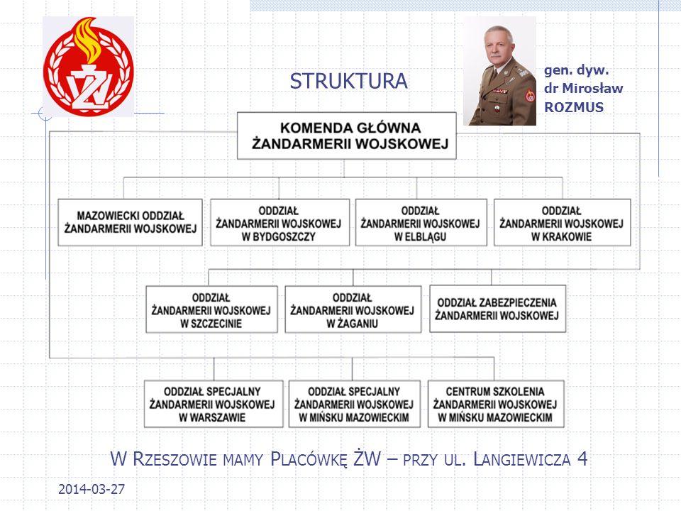 2014-03-27 STRUKTURA W R ZESZOWIE MAMY P LACÓWKĘ ŻW – PRZY UL.