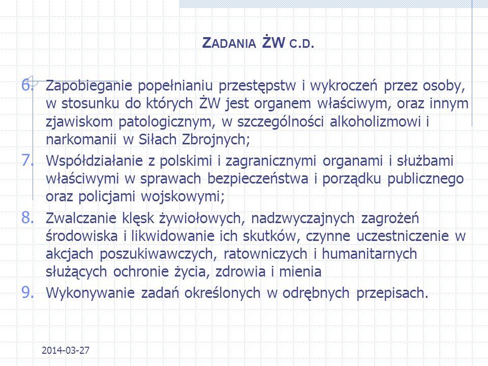 2014-03-27 STRUKTURA 1.Warmińsko-Mazurski OSG (Kętrzyn); 2.Podlaski OSG (Białystok); 3.Nadbużanski OSG (Chełm); 4.Bieszczadzki OSG (Przemyśl); 5.Karpacki OSG (Nowy Sącz); 6.Śląski OSG (Racibórz); 7.Sudecki OSG (Kłodzko); 8.Nadodrzański OSG (Krosno Odrzańskie); 9.Morski OSG (Gdańsk 10.Nadwiślański OSG (Warszawa); gen.