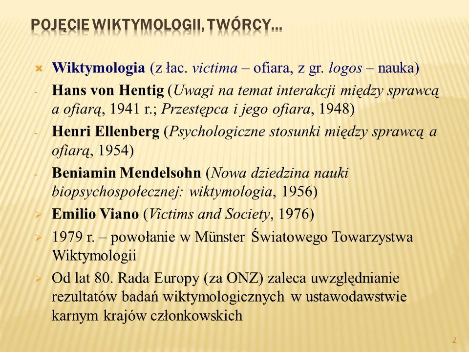 2 Wiktymologia (z łac.victima – ofiara, z gr.