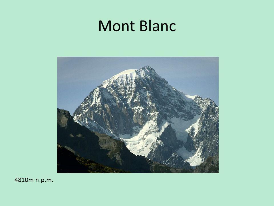 Mont Blanc 4810m n.p.m.