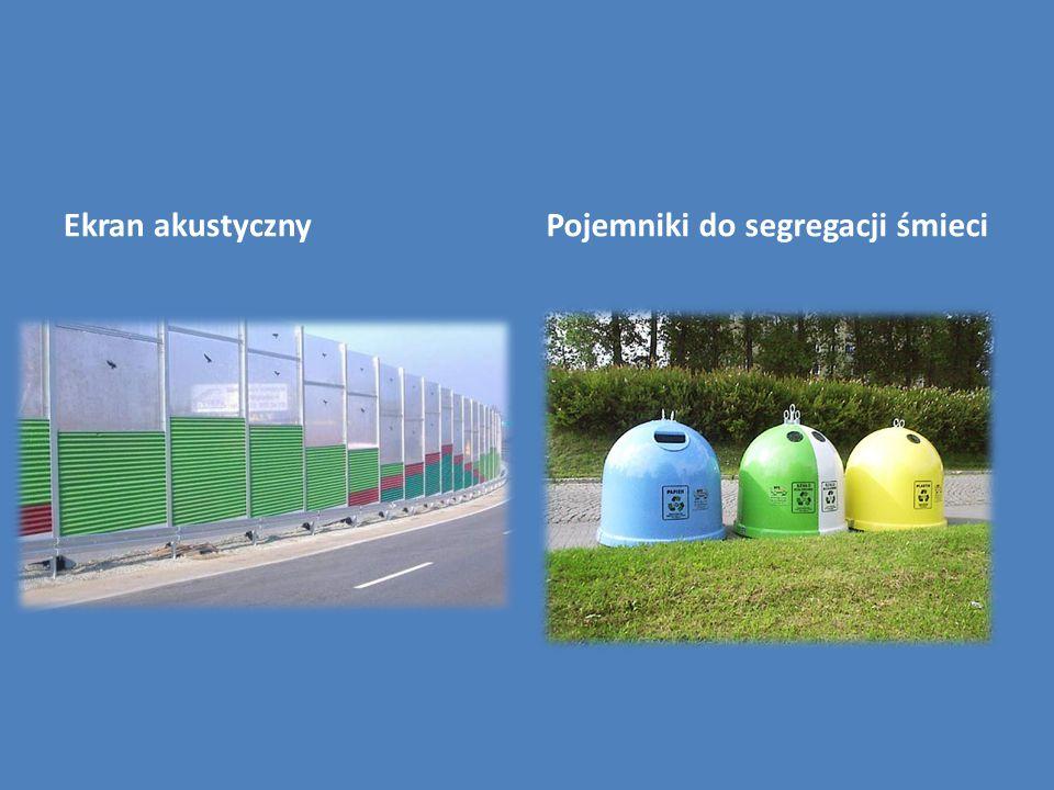 Ekran akustycznyPojemniki do segregacji śmieci