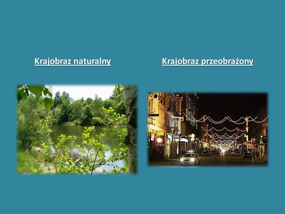 Krajobraz naturalny Krajobraz przeobrażony