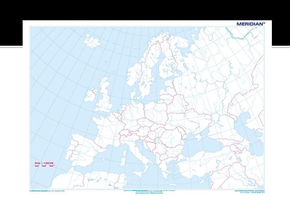 Półwyspy ( Skandynawski, Iberyjski, Apeniński, Bałkański, Peloponez, Krym) Wyspy (Wielka Brytania, Irlandia, Islandia, Sardynia, Sycylia, Baleary, Korsyka) Akweny (Morze Północne, Morze Śródziemne, Morze Barentsa) Archipelagi