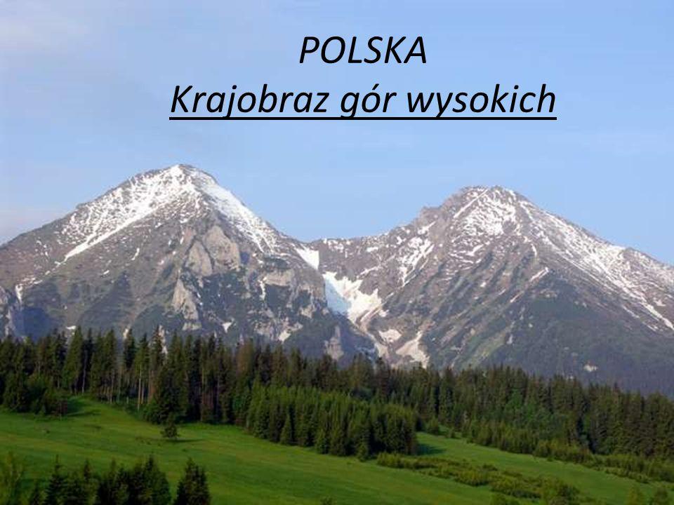Najwyższe szczyty np.: Giewont Kasprowy Wierch Kościelec Świnica Czerwone Wierchy Mnich Lodowy szczyt