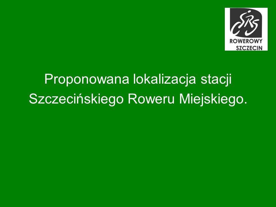 Proponowana lokalizacja stacji Szczecińskiego Roweru Miejskiego.
