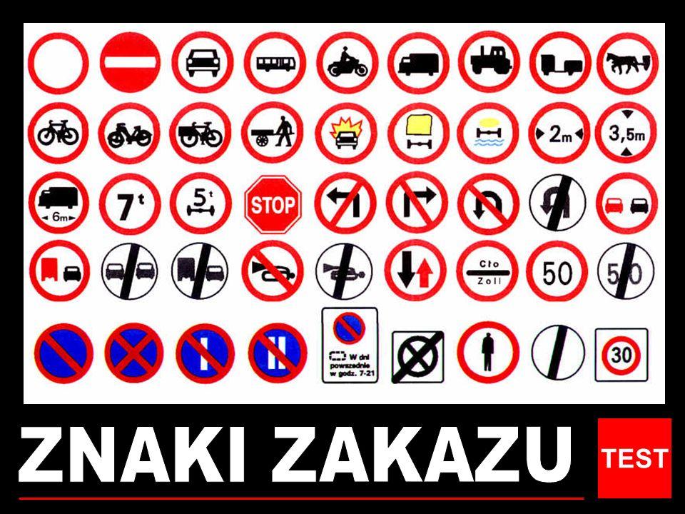 WYBIERZ PRAWIDŁOWY ZNAK Koniec ograniczenia prędkości