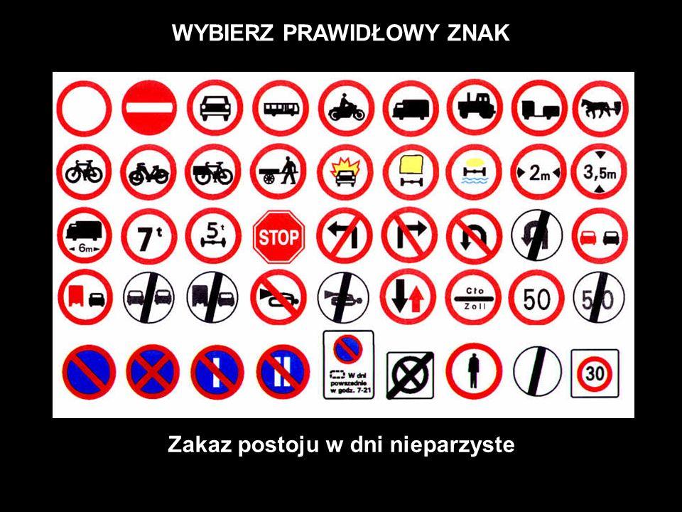 WYBIERZ PRAWIDŁOWY ZNAK Zakaz wjazdu wózków ręcznych