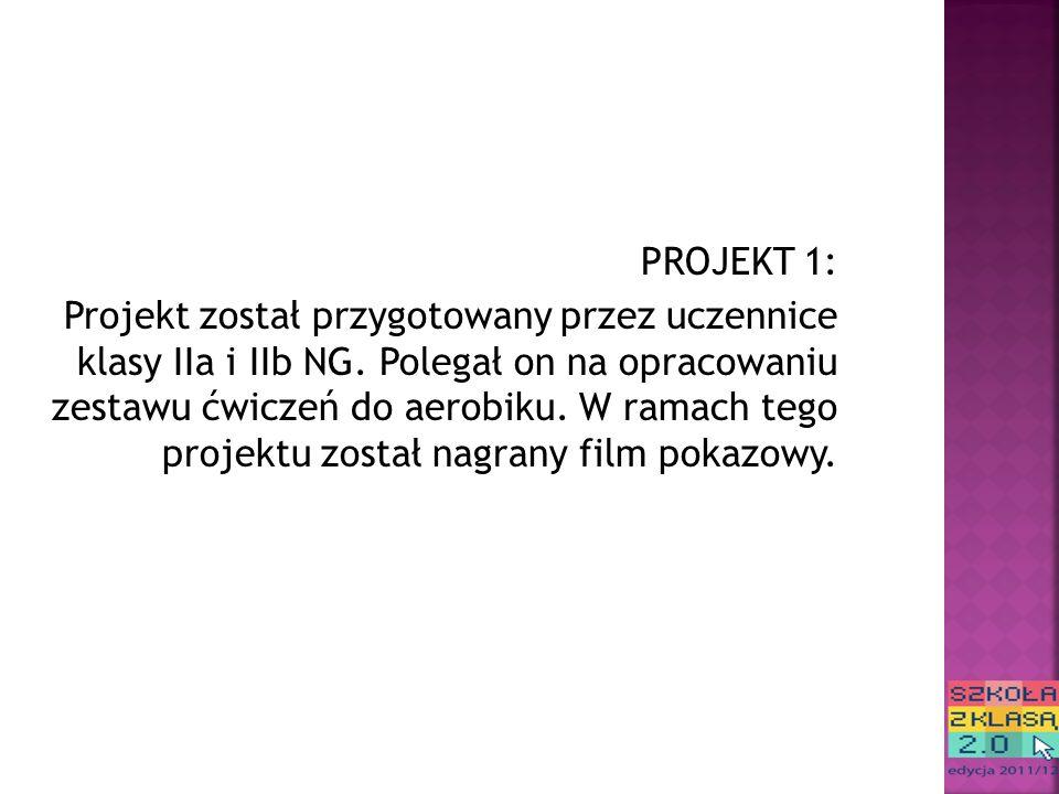 PROJEKT 1: Projekt został przygotowany przez uczennice klasy IIa i IIb NG.