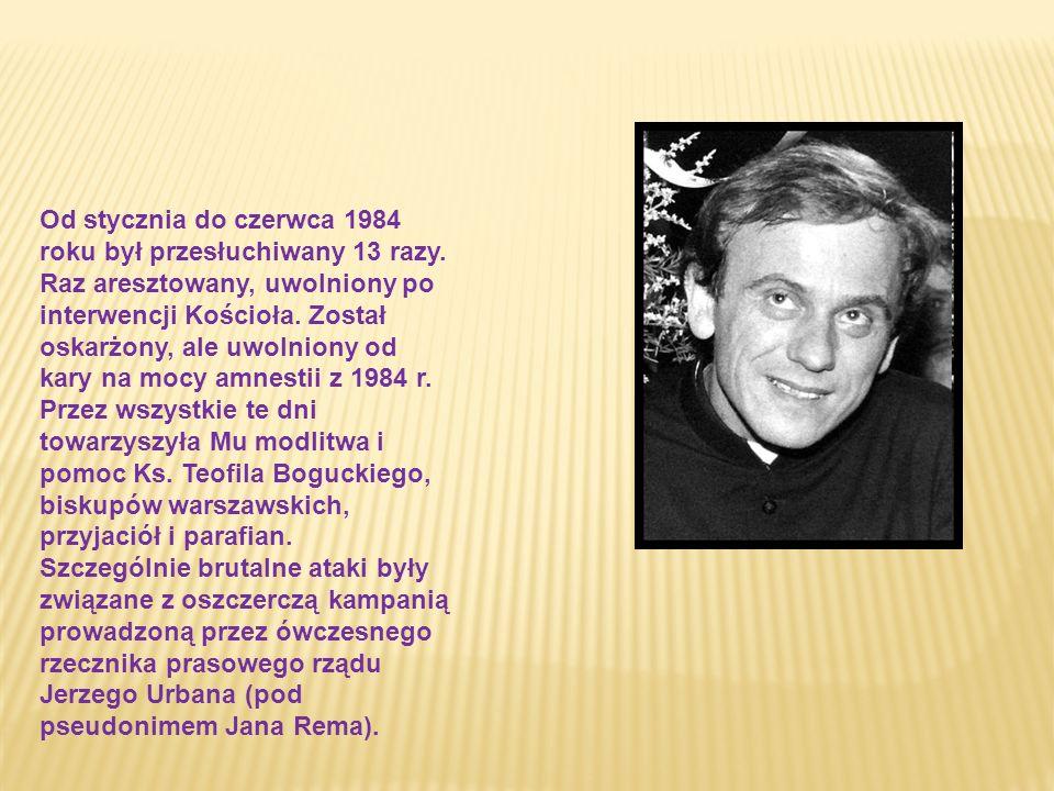 Od 28 lutego 1982 r. celebrował Msze Św. za Ojczyznę i wygłaszał kazania patriotyczno - religijne (było ich razem 26), w których - przez pryzmat Ewang