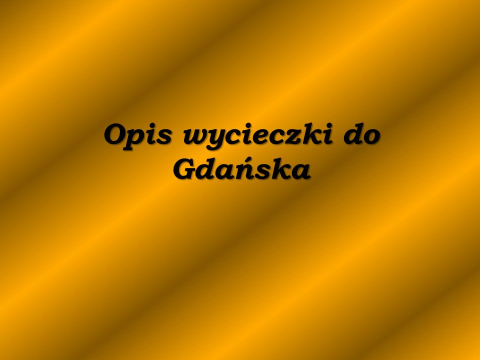 Opisy budowli Gdynia