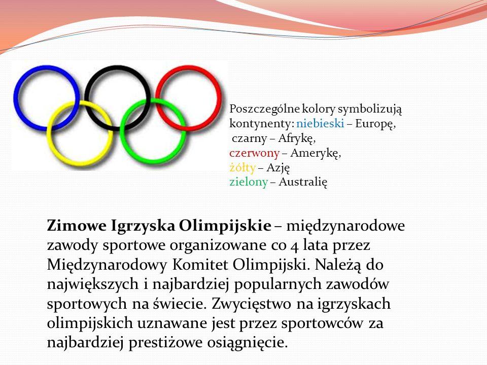 Zimowe Igrzyska Olimpijskie – międzynarodowe zawody sportowe organizowane co 4 lata przez Międzynarodowy Komitet Olimpijski. Należą do największych i