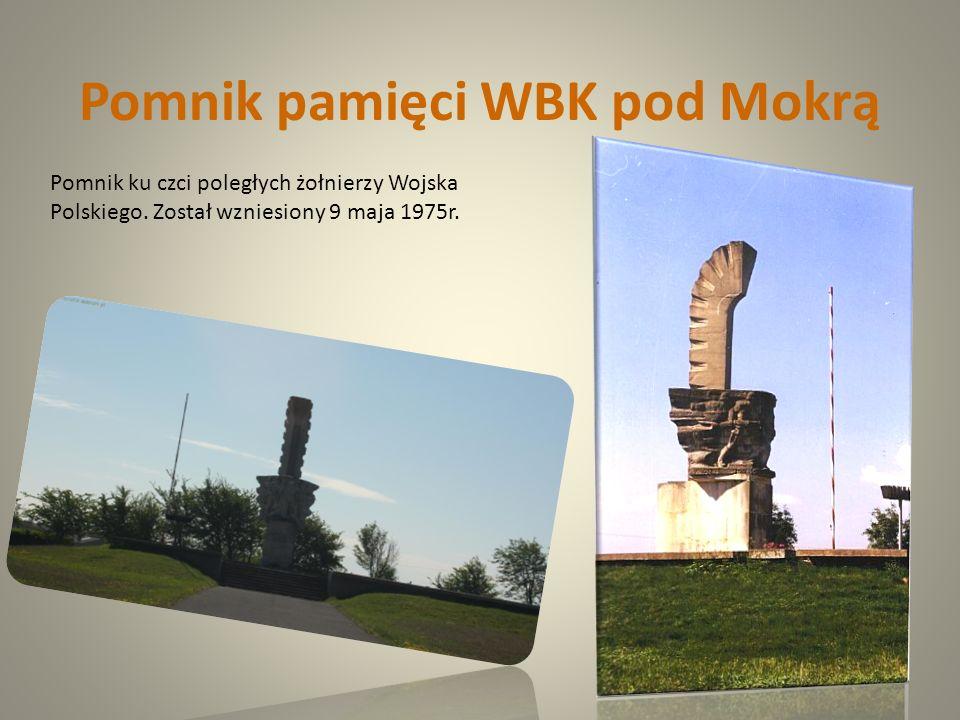 Pomnik pamięci WBK pod Mokrą Pomnik ku czci poległych żołnierzy Wojska Polskiego. Został wzniesiony 9 maja 1975r.