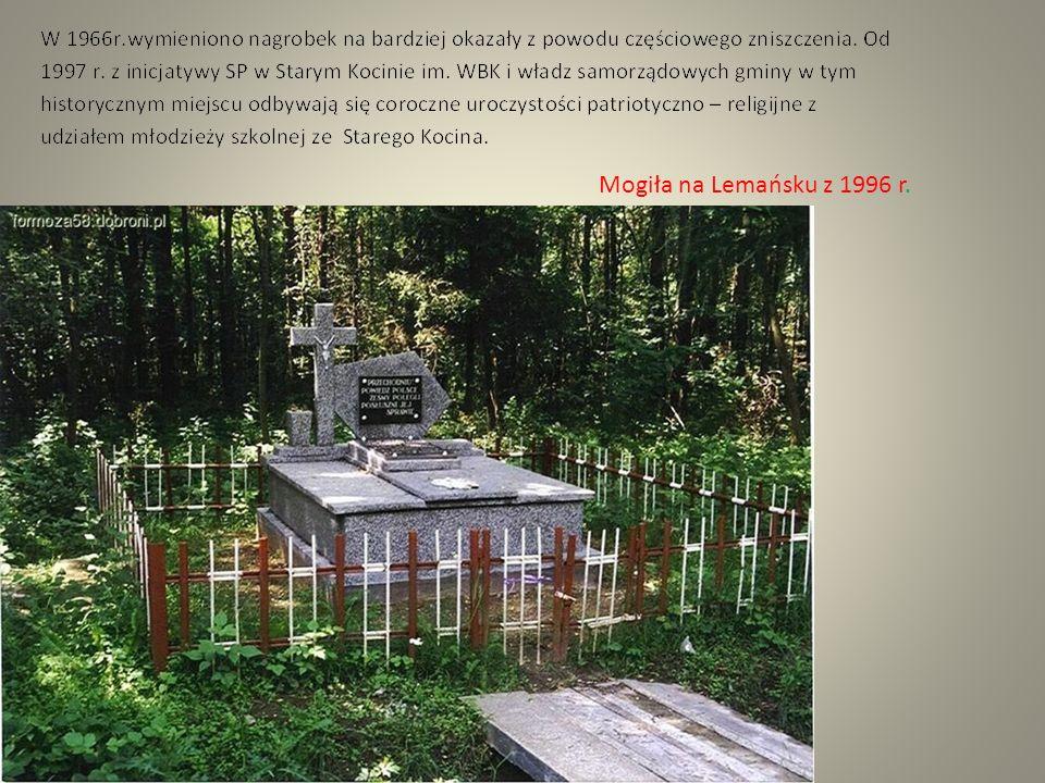 Na nagrobku 2 i 3 widnieje napis : Przechodniu Powiedz Polsce Żeśmy polegli Posłuszni jej sprawie Napis pochodzi ze starej tablicy drewnianej, którą ufundowali i przywieźli na 1000-lecie Państwa Polskiego,kombatanci WBK z Limanowej.