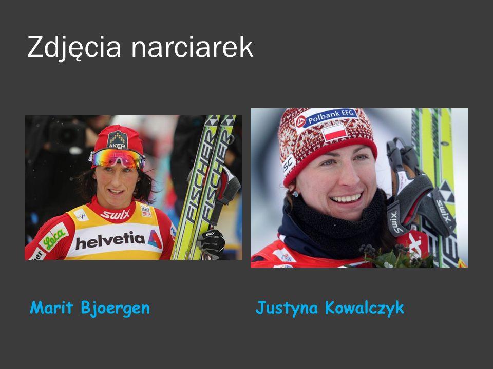 Zdjęcia narciarek Marit BjoergenJustyna Kowalczyk