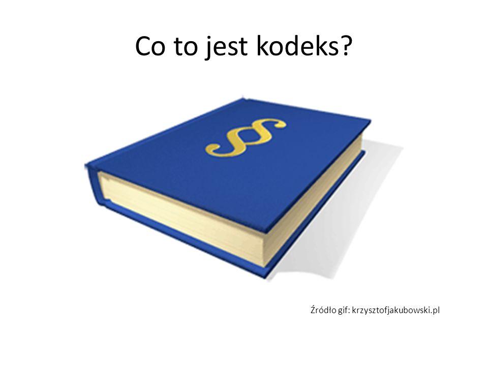 Co to jest kodeks Źródło gif: krzysztofjakubowski.pl