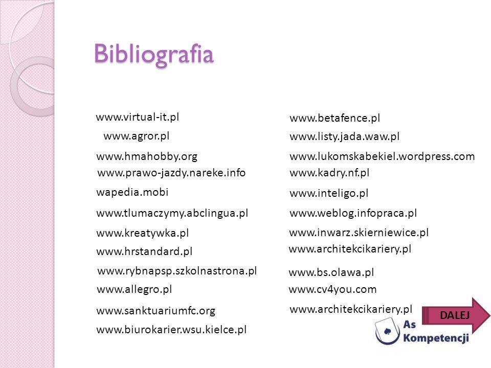 www.hmahobby.org www.prawo-jazdy.nareke.info www.tlumaczymy.abclingua.pl www.kreatywka.pl www.hrstandard.pl www.listy.jada.waw.pl www.kadry.nf.pl www.