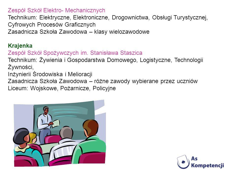 Zespół Szkół Elektro- Mechanicznych Technikum: Elektryczne, Elektroniczne, Drogownictwa, Obsługi Turystycznej, Cyfrowych Procesów Graficznych Zasadnic