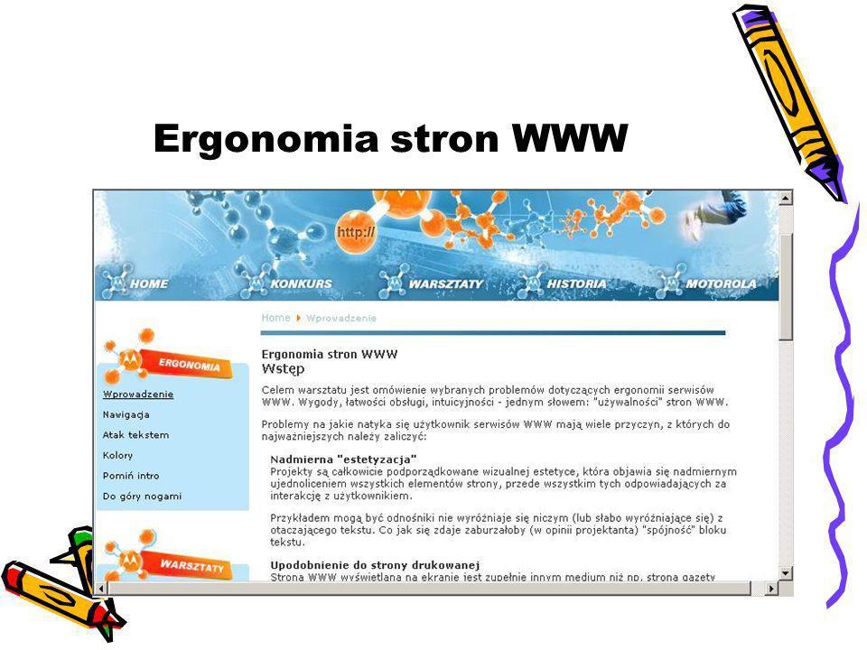 Ergonomia stron WWW