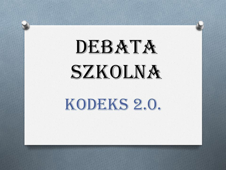 DEBATA SZKOLNA KODEKS 2.0.