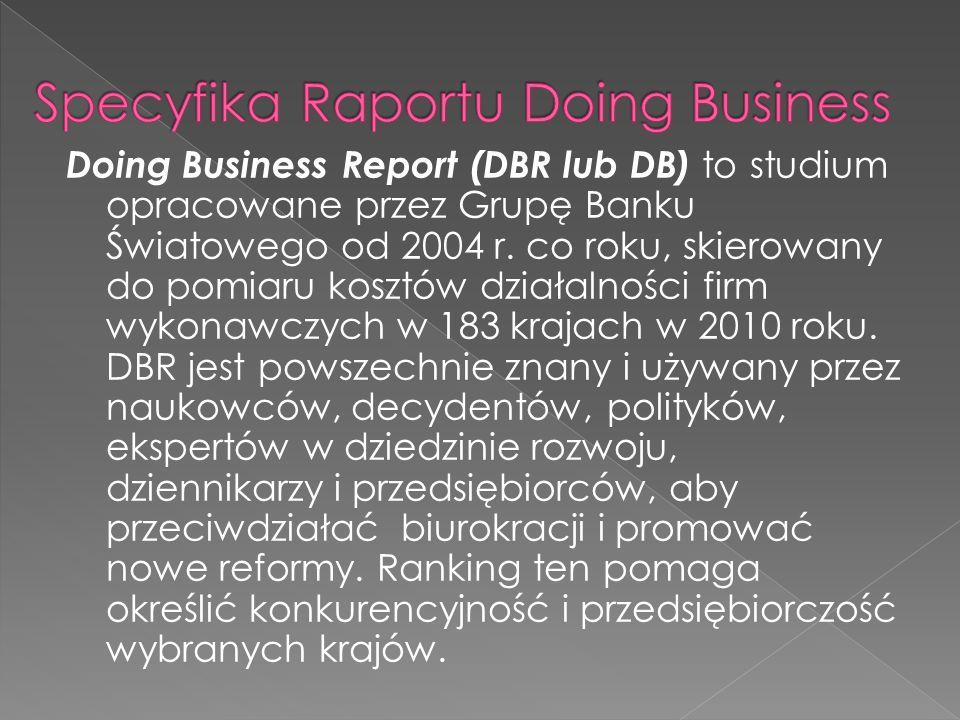 Doing Business Report (DBR lub DB) to studium opracowane przez Grupę Banku Światowego od 2004 r.