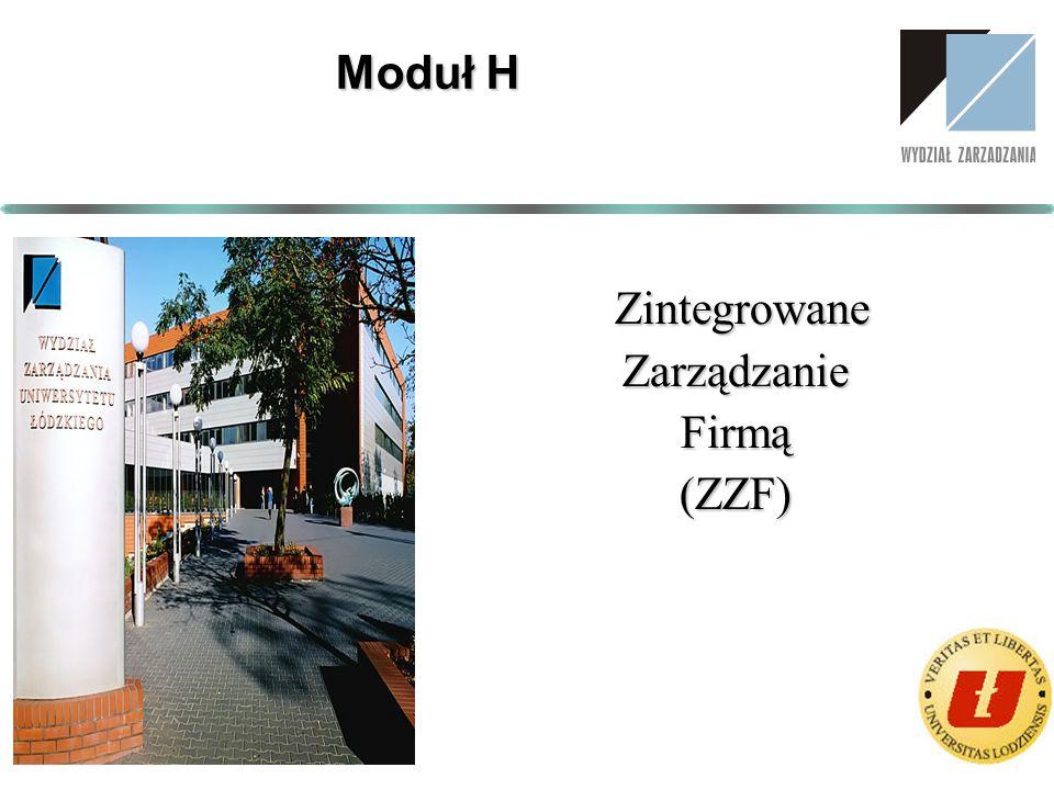 Zintegrowane ZintegrowaneZarządzanieFirmą(ZZF) Moduł H
