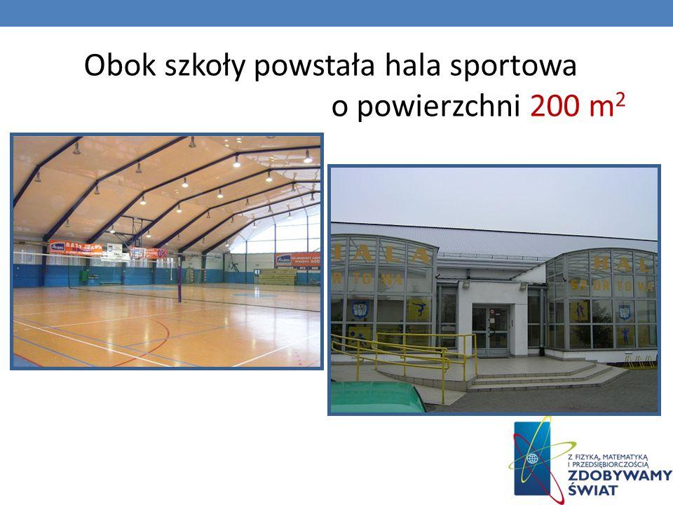 Obok szkoły powstała hala sportowa o powierzchni 200 m 2