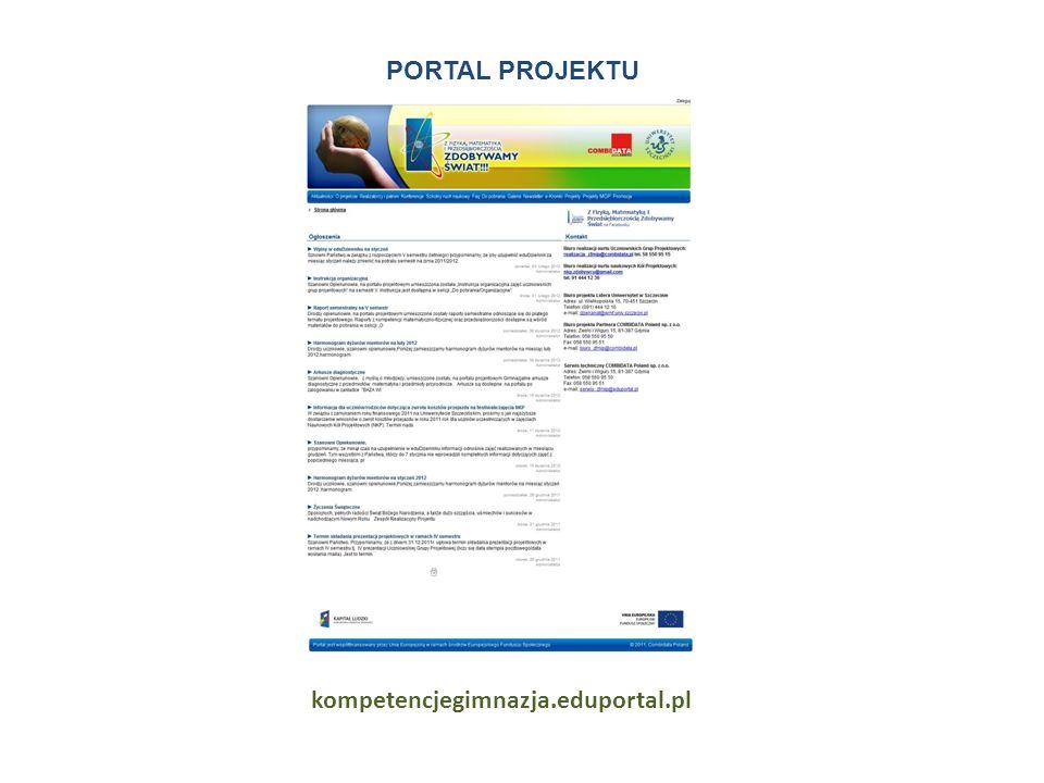 PORTAL PROJEKTU kompetencjegimnazja.eduportal.pl