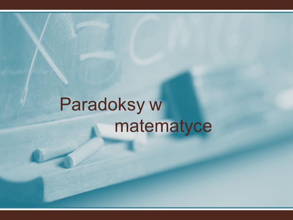 Paradoksy w matematyce