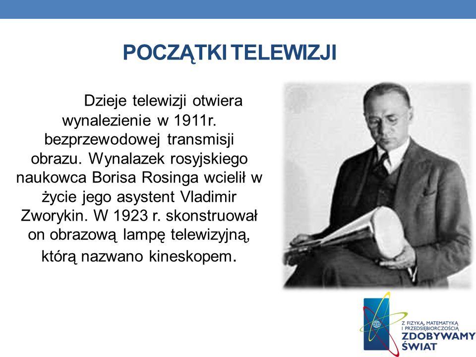 POCZĄTKI TELEWIZJI Dzieje telewizji otwiera wynalezienie w 1911r.