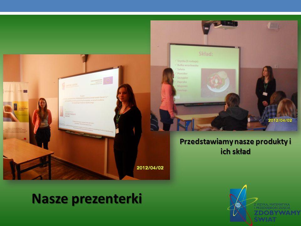 Nasze prezenterki Przedstawiamy nasze produkty i ich skład
