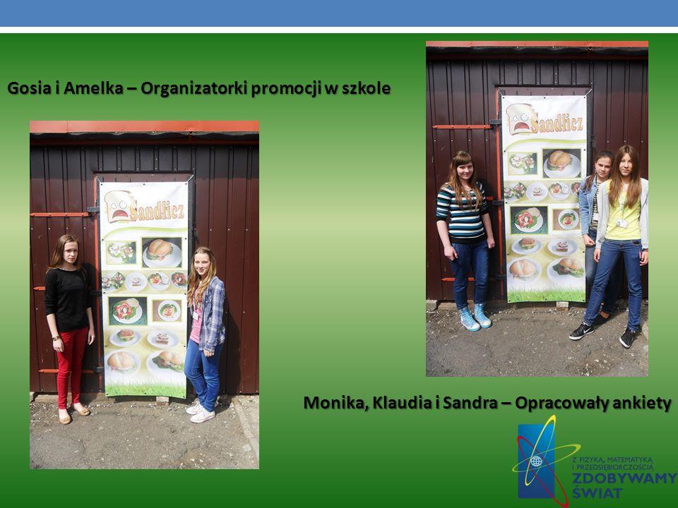 Gosia i Amelka – Organizatorki promocji w szkole Monika, Klaudia i Sandra – Opracowały ankiety