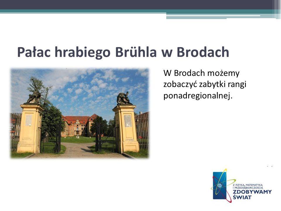 Pałac hrabiego Brühla w Brodach W Brodach możemy zobaczyć zabytki rangi ponadregionalnej.