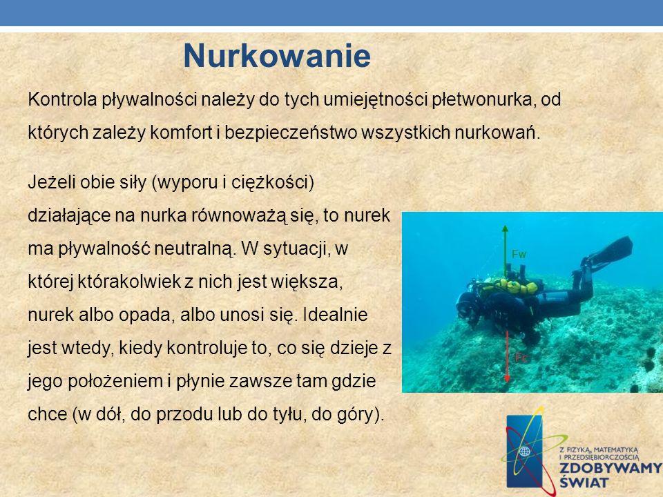 Kontrola pływalności należy do tych umiejętności płetwonurka, od których zależy komfort i bezpieczeństwo wszystkich nurkowań. Jeżeli obie siły (wyporu