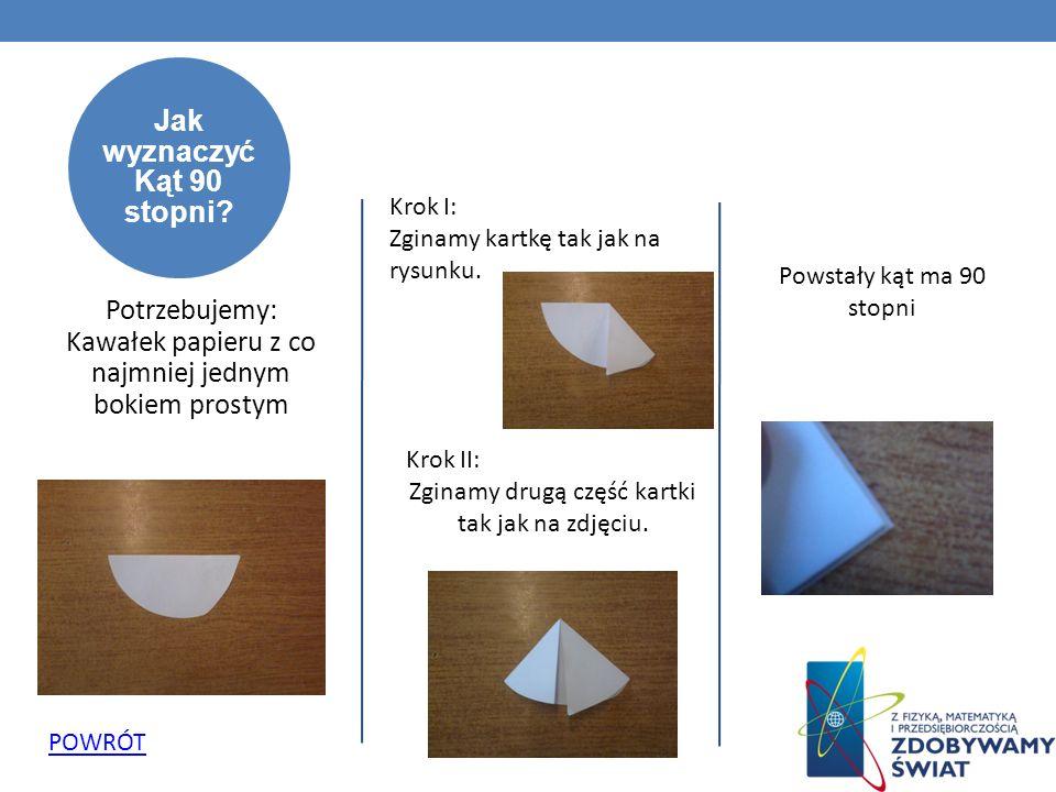 Jak zrobić sześciokąt foremny z papieru.
