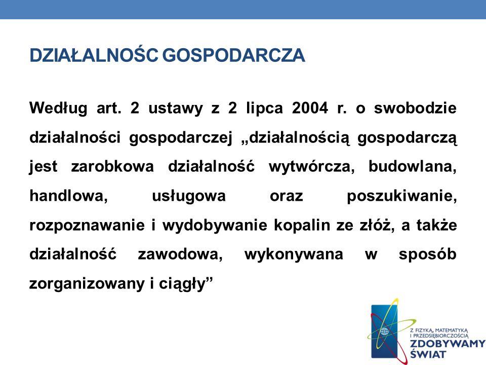 ŹRÓDŁA: http://forsal.pl www.stat.gov.pl/szczec http://mojafirma.interia.pl www.polki.pl/finanse_praca_artykul www.