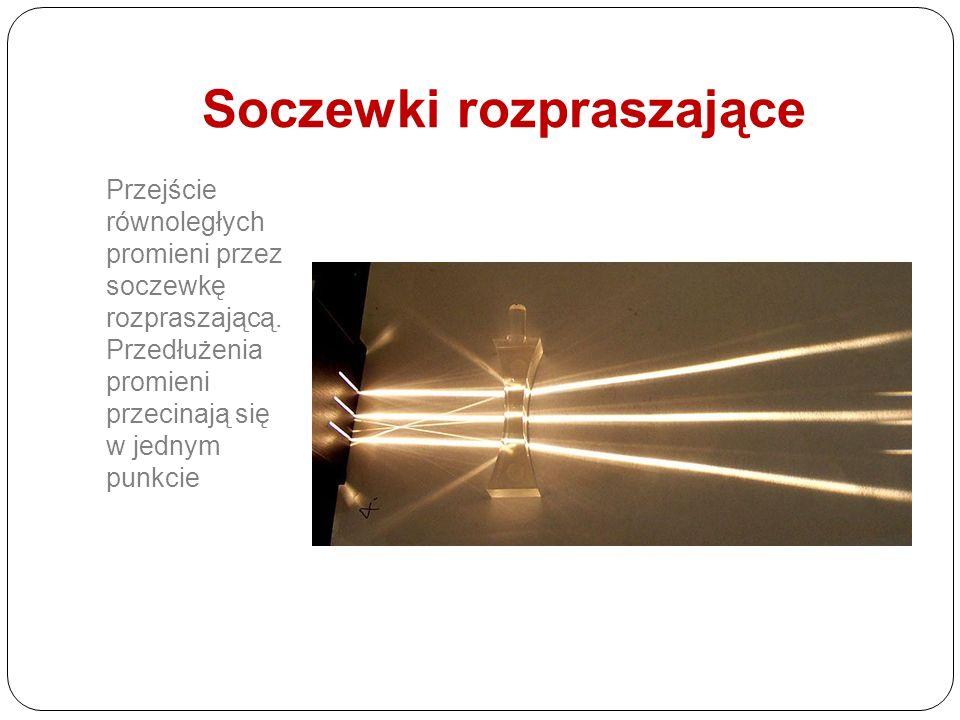 x < f F2F2 O2O2 O1O1 F1F1 Cechy obrazu: powiększony prosty pozorny