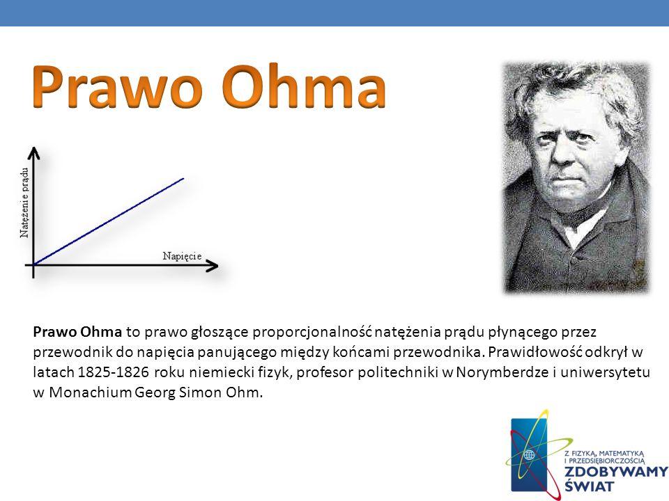 Prawo Ohma to prawo głoszące proporcjonalność natężenia prądu płynącego przez przewodnik do napięcia panującego między końcami przewodnika. Prawidłowo