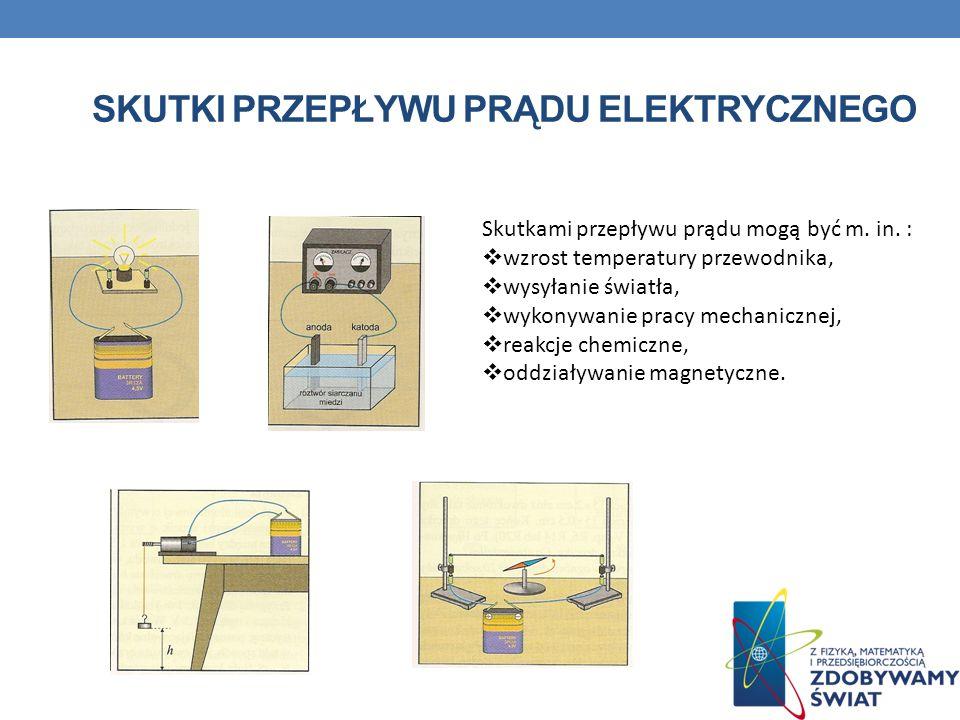 Obwodem elektrycznym nazywa się pewien układ, w skład którego wchodzą źródła prądu, przewody przewodzące prąd oraz inne elementy.